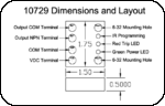 10729 Dimensions and Layout